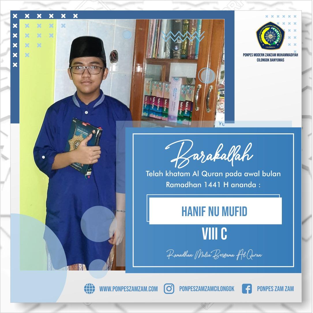 Hanif Nu Mufid – Khatam Al Qur'an Ramadhan 1441 H