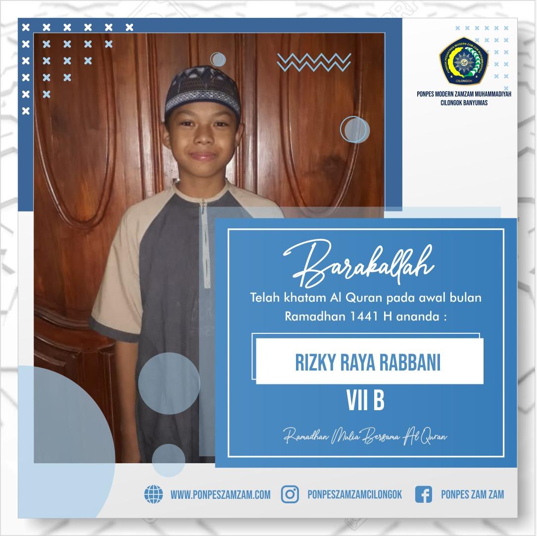Rizky Raya Rabbani – Khatam Al Qur'an Ramadhan 1441 H